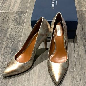 Cole Haan silver marble Emory pump